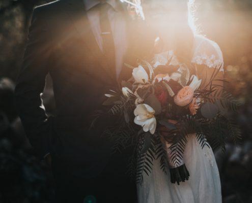 Bruidspaar boeket